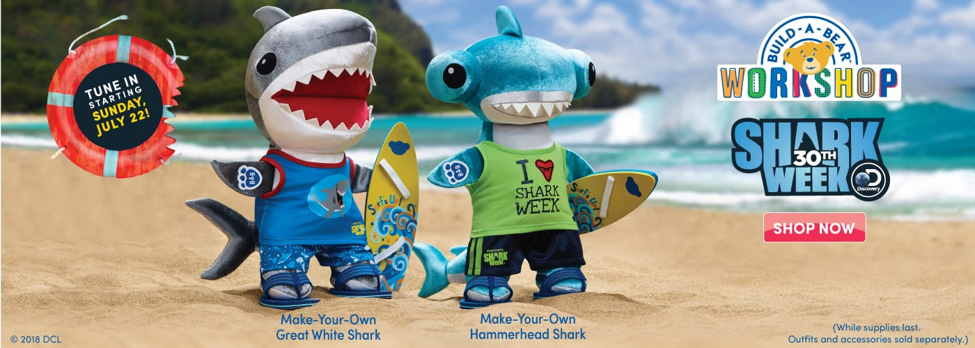 Build-a-Bear Shark Week Collection