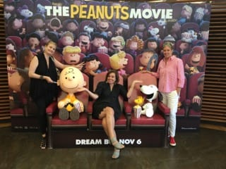Peanuts Movie in theater